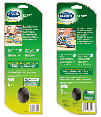 Front of Dr. Scholl's® Athletic Series Sport Insoles for Men and Women