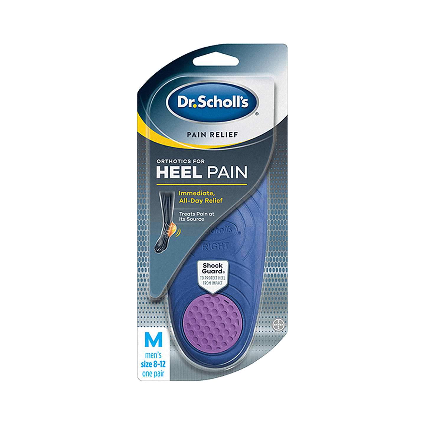 Front of Dr. Scholl's® Pain Relief Orthotics for Heel for Men