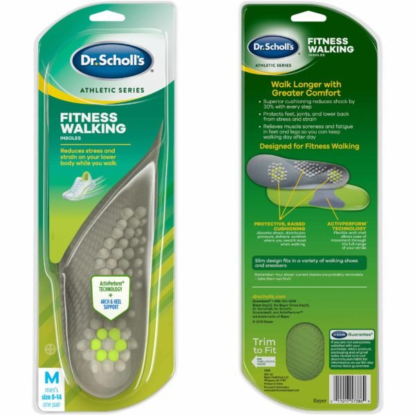 Image of Dr. Scholl's Athletic Series  Fitness Walking Insoles in Package