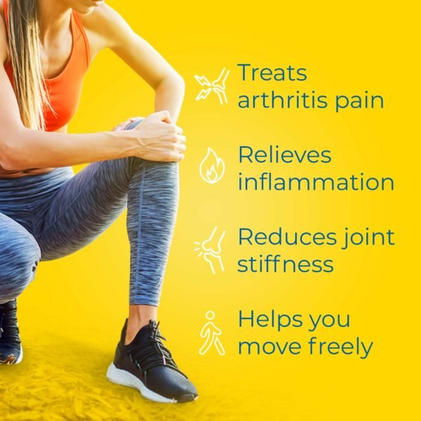 arthritis pain reliever treats arthritis pain relieves inflammation reduces joint stiffness and helps you move freely