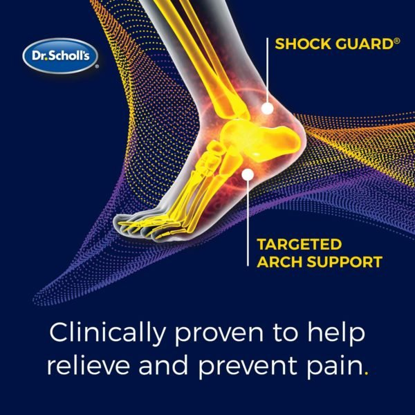 plantar fasciitis sized to fit insoles are clinically proven to help relieve and prevent pain