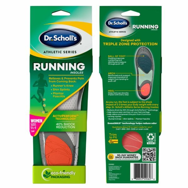 image of womens running insoles