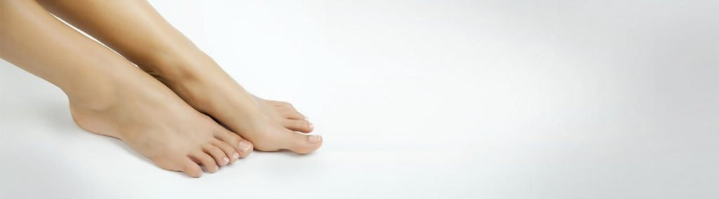 Image of person's feet.