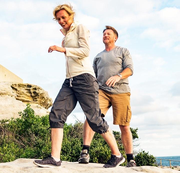 image of couple hiking