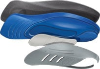 custom fit orthotics exploded view