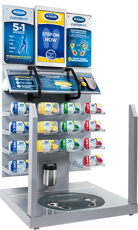 Image of Dr. Scholl's Custom fit  Orthotics Kiosk in package