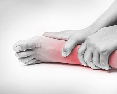Image of a person with Foot Pain