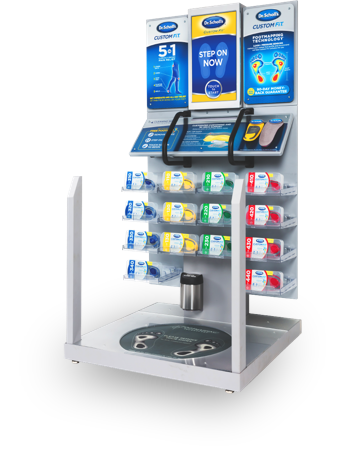 Image of the Front View of Custom Fit Orthotics Kiosk.