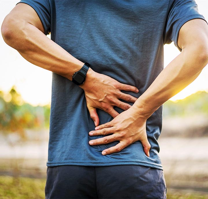 image of lower back pain