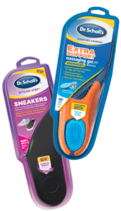Image of Dr. Scholl's sneaker inserts and extra support insoles