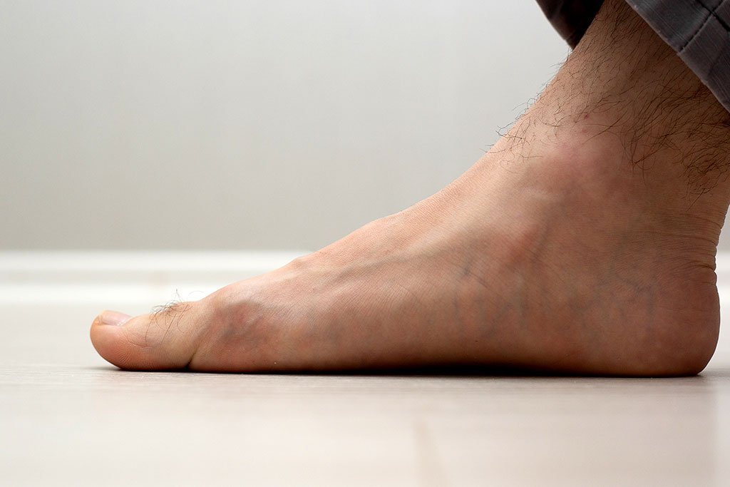 image of a man's foot
