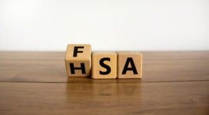 image of blocks that spell out FSA HSA