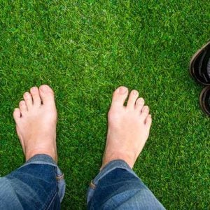 optimized foot in grass image