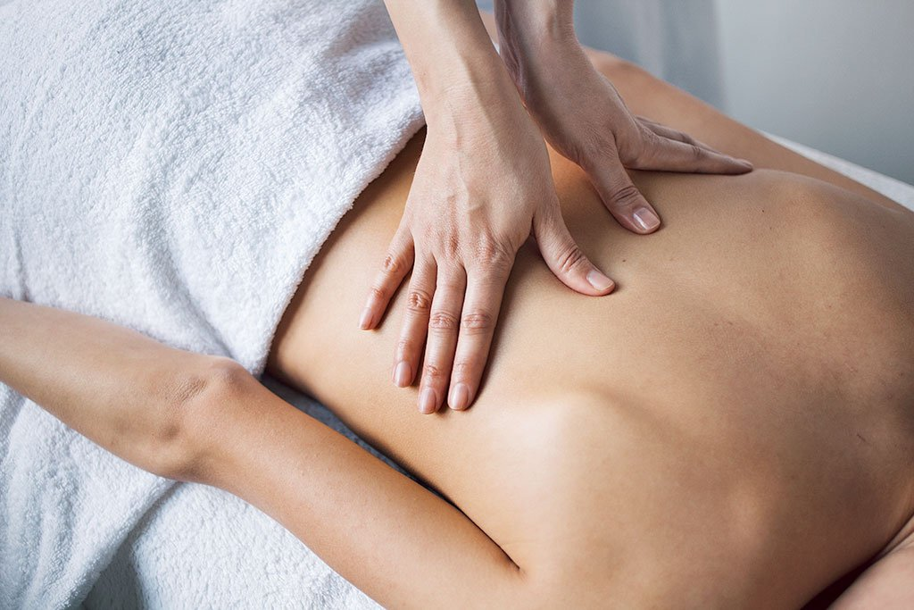 image of person getting a massage
